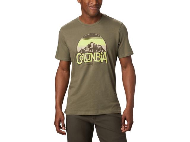 Columbia Basin Butte Kurzarm Graphic T-Shirt Herren stone green branded sunshade